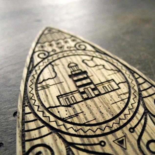 Surfboard Detailansicht