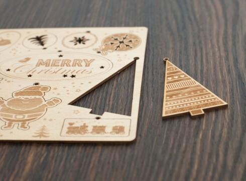 Sperrholz Geschenksanhänger graviert und geschnitten