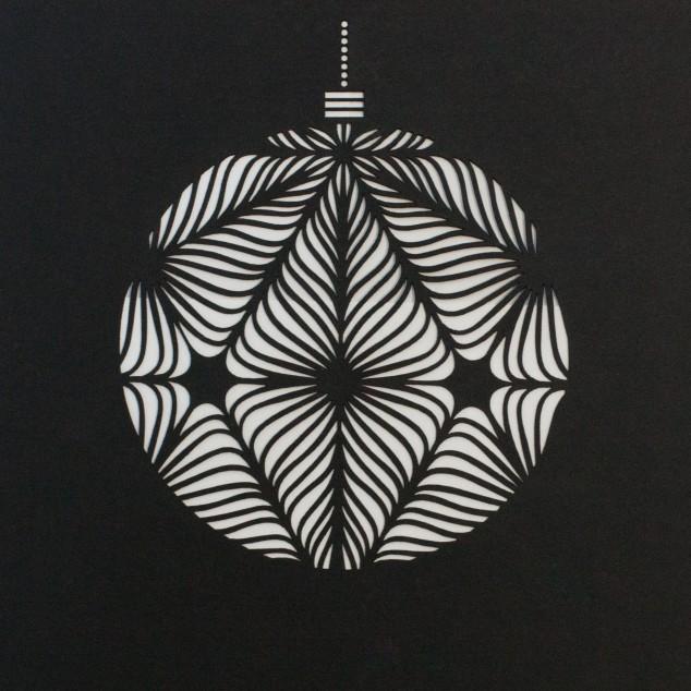 Weihnachtskarte mit Laser Cut in Papier